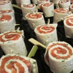 Wraps de saumon gravlax et crème ciboulette